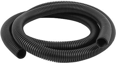 DOXO888 Black 28mm x 23mm Flexible Corrugated Conduit Pipe HoseTube 2.1M Long Model:71ko75py72