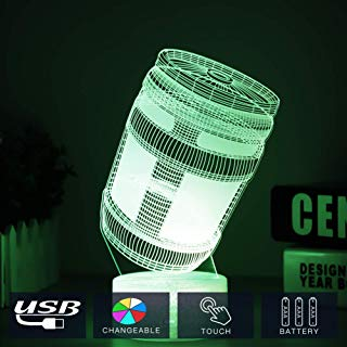 HOOFUN Fortress Battle Royale LED Lamp Lights 7 Colors Changing USB Touch Lampada 3D Optical Illusion Lamps Bulbing Lampen Children's Room Decor Holiday Light (Crack Energy Box)