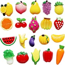 DRAGON SONIC Creative Fridge Magnet Stickers Vegetables Fruits Fridge Magnet Set (20 Pcs)