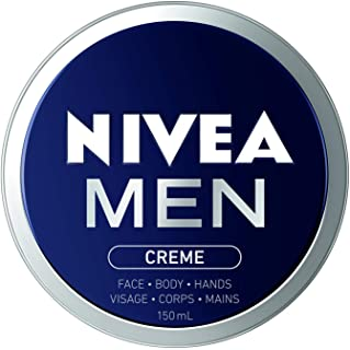 NIVEA Men Crème For Face, Body and Hands (150mL), NIVEA Moisturizer for All Skin Types, Face Cream, Hand Cream, Carefully ...