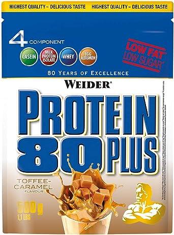 Weider Proteína 80 plus 2 bolsas de 500 g, 2 unidades