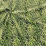 STOFFKONTOR Leopard Tierfellimitat Velboa Stoff Meterware