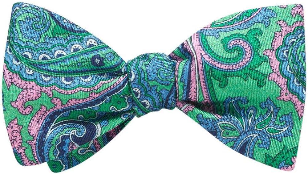 Carrara Green Paisley, Men's Bow Tie, Handmade in the USA