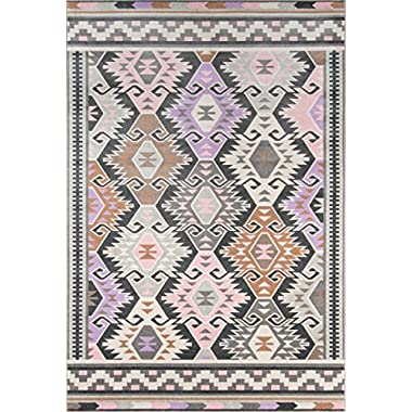Novogratz Terrace Collection Boho Holiday Indoor/Outdoor Area Rug, 5'3  x 7'6 , Multicolor