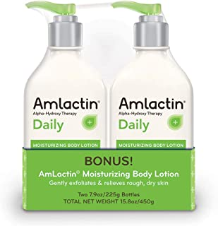 AmLactin Alpha-Hydroxy Therapy Moisturizing Body Lotion for Dry Skin 15.8 Ounce White