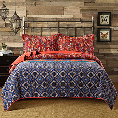 King Bohemian Bedspread Set W/ 2 Pillowcases $18.40 (60% OFF Coupon)