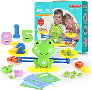Lemostaar Balance Math Game - Educational Toys Math Games for Kids Boys & Girls - STEM Learning Material Counting Toys - Best Gift for Toddlers 3 4 5 Years Old - 61pcs