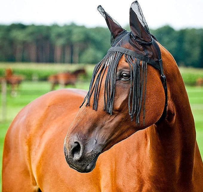 Lot 7 x 1 Fly Veil Ear Bonnet Hood Net Breathable cotton Horse Fly Ear Cap