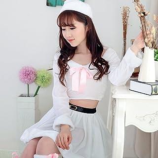 VeroMan 白 サンタ ホワイト クリスマス コスプレ 衣装 4点セット
