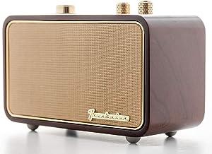 Retro Bluetooth Speaker, TRENBADER.COM Portable Speaker for Home Indoor, Wooden Vintage..