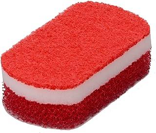 オーエ キッチンスポンジ 赤 約縦12×横6.5×高さ3.6cm スマートホーム II トリプルスポンジ 三層 ソフト 不織布 泡立ち 油汚れ 日本製