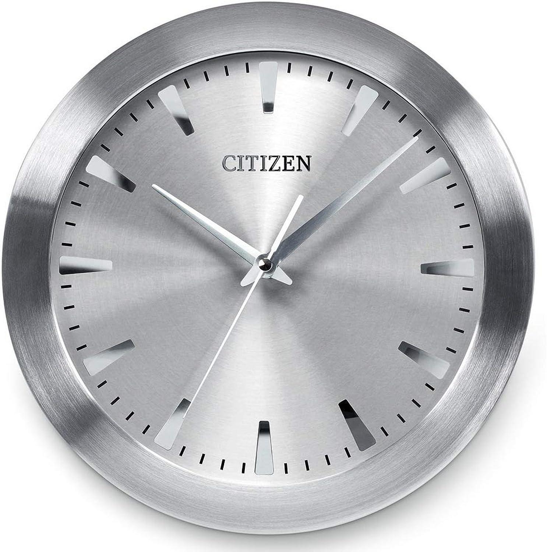 Citizen Gallery Circular Wall Clock Silver Tone CC2003