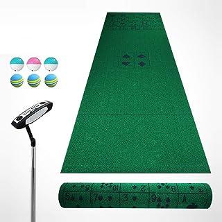 JHHXW Golf Putting Mats, Fun Games/Kids Learning Golf Practice Mat, 350 * 100cm Golf Mat, Portable Indoor and Outdoor Golf...