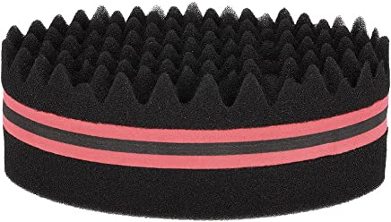 Anself Oval Brush Double-sided Hair Twist Sponge Magic Hair Braider for Afros Dreadlocks Curl Coil Wave (Red)