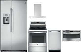 GE Profile 45 Piece Kitchen Package with PZS22MSKSS 36