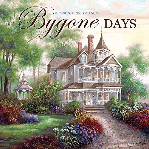 Bygone Days 2021 12 x 12 Inch Monthly Square Wall Calendar by Hopper Studios Featuring the Artwork of Carl Valente, Rural Country Art