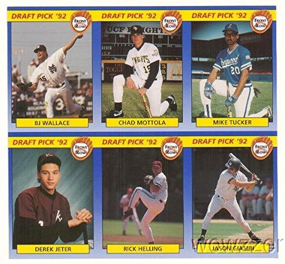 1992 Front Row DEREK JETER High School ROOKIE Uncut Sheet! Rare! Over 20 Yrs Old