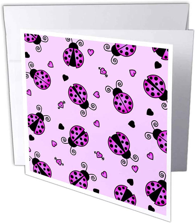 3dRosa 3dRosa 3dRosa gc_12101_2 Grußkarte mit Herzen, Motiv Love Bugs lila Ladybug Print with Hearts , 15 x 15 cm, 12 Stück B07BJCHDNW | Neuartiges Design  | Reichlich Und Pünktliche Lieferung  | Moderne und elegante Mode  b243ab