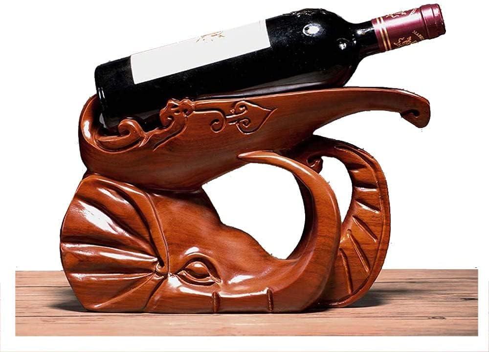 security Superlatite SDKFJ Wine Racks Rack Elephant Carving W Rosewood