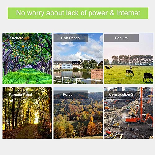 [2019 Updated] Solar Power Battery Powered 1080P WiFi Security IP Camera with Starlight Night Vision 260ft, P2P Peer-to-Peer Wireless, Enlarged Li-ion Battery Built-in 16G SD Card