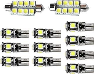 のために適した BMW X1 E84 車内ランプLED ドームライト バルブ ライセンスプレートライ ウェッジ ポジションランプ 置換灯 ホワイト 白 高輝度 爆光12V 12個