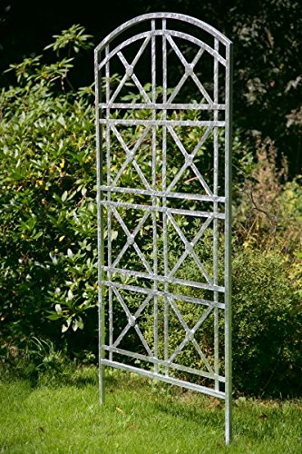 KUHEIGA Steckzaun H: 180cm B: 80cm aus Metall Zink/Verzinkt Rankhilfe Rankgitter