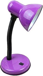 Lampe de table éclairage de chevet base en fer et lampe de table col de cygne réglable base E27, convient pour chambre, sa...