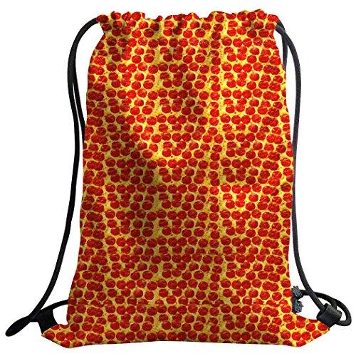 violetpos Mode costumbre Unisex Turn Bolsa Mochila Bolsa de deporte Gym Bag divertido roja Pizza punto Jamonero