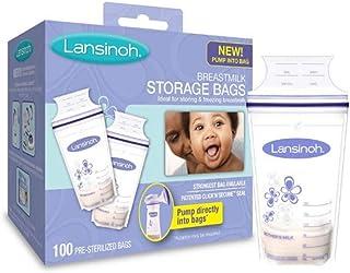 ZOUJIN 100 pcs! Lansinoh Breastmilk Storage Bags, 100 Count, BPA Free and BPS Free