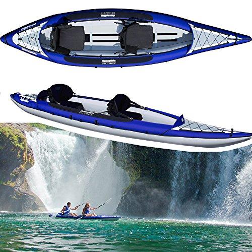 Aquaglide Schlauchboot Aufblasbares Kajak Columbia Two XP Kanu, 409 cm x 91 cm L B Luftboot 2 Personen