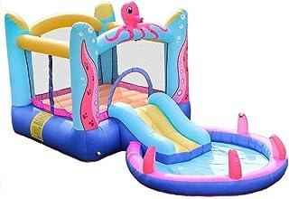 Piscinas hinchables Tobogán inflable Water Park con soplador de aire inflable pulpo Play Center castillo de salto de alta resistencia de nylon casa de la despedida for el parque de atracciones al aire