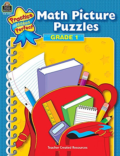 Math Picture Puzzles: Gr 1 (Practice Makes Perfect)