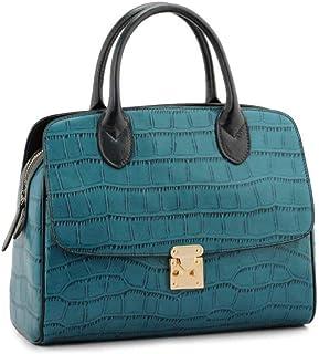Shoulder Bag Women's Handbag Shoulder Bag Messenger Bag Crocodile Pattern Fashion Handbag Clutch (Color : Blue, Size : One Size)