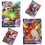 Bulanuo 60 Cartas Pokémon, V VMAX GX Flash Trading Puzzle Divertido Juego de Cartas 2020 Nuovo / 42 V + 18 VMAX