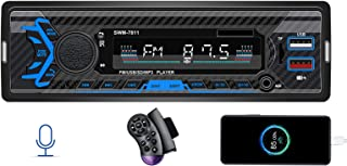 $23 » Single Din Car Stereo with Voice Control, FM Radio System,Bluetooth Handfree Calling,Daul USB Fast Charging,Mp3 Player