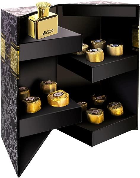 A ASGHARALI Bakhoor Al Maisera Combination Gift Pack Of Incense Bakhoor And Eau De Parfum 12 Pieces 30ml