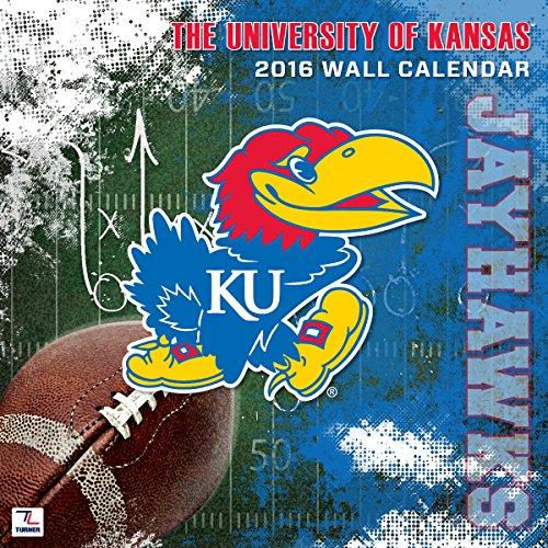 Turner Kansas Jayhawks 2016Team Wand Kalender, September 2015–Dezember 2016, 30,5x 30,5cm (8011802)