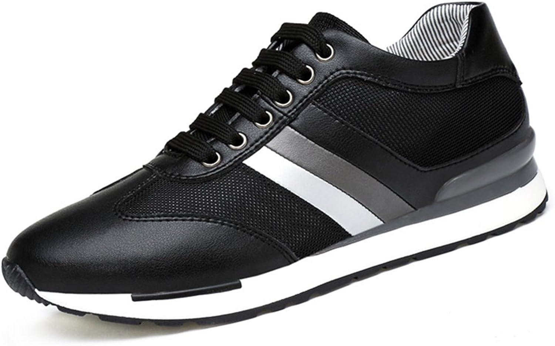 BERTERI Men's Ultra Lightweight Breathable Mesh Korean Version Leather Street Sport Walking Running shoes Casual Sneakers