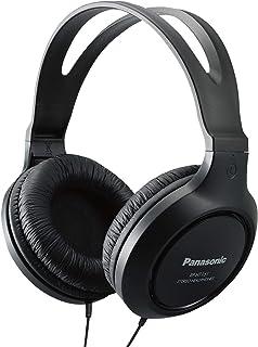 Panasonic Headphones RP-HT161-K Full-Sized Over-the-Ear Lightweight Long-Corded (Black) (Renewed)