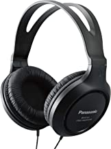 Panasonic Headphones RP-HT161-K Full-Sized Over-the-Ear Lightweight Long-Corded (Black) (Renewed)