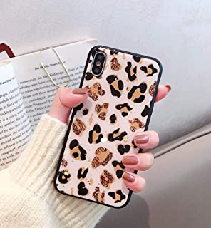 Losin Leopard Case Compatible with Apple iPhone 7 Plus Case, iPhone 8 Plus Case,Luxury Sparkling Glitter Foil Premium Glossy Cute Lovely Leopard Pattern Soft TPU Back Case