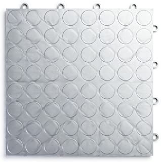 RaceDeck CircleTrac, Durable Interlocking Modular Garage Flooring Tile (48 Pack), Alloy