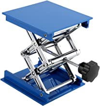 Lift Tables,Blue Electroplated Aluminum Lab Lifting Platform Stand Rack Scissor Jack Lifter 100 x 100mm Laboratory Lifting Rack