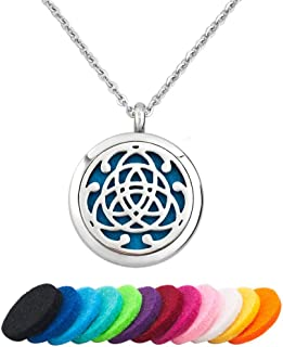 Moonlight Collection Celtic Cross Pendant Aromatherapy Essential Oil Diffuser Necklace