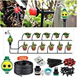 KINGSO Drip Irrigation Kit with Timer 82ft/25M Irrigation System with...