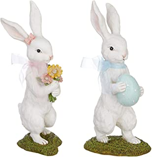 "RAZ Imports Bunny Rabbit Couple 9.5"" Tall"