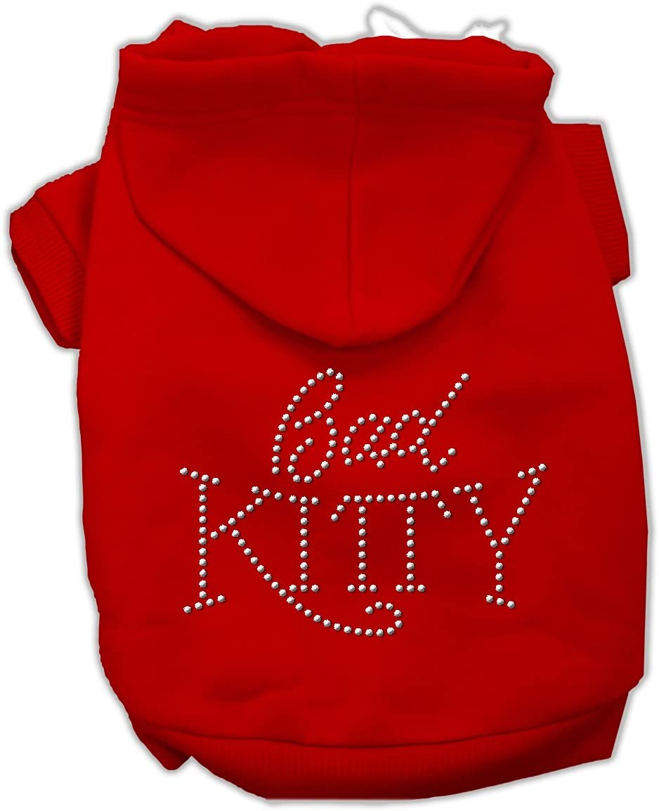 Bad Kitty Rhinestud Washington Mall Hoodie Max 76% OFF Red XXL 18