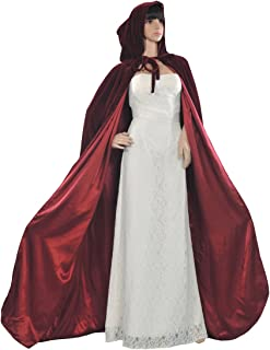 AW Adult Hooded Cloak Velvet Robe Cape for Halloween Cosplay Christmas Costumes Unisex