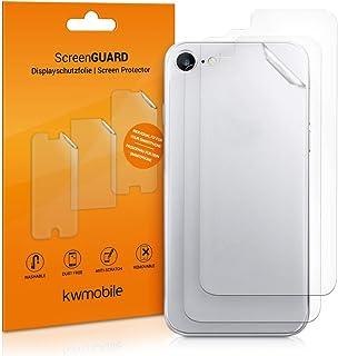 kwmobile 3x Pellicola protettiva posteriore compatibile con Apple iPhone 8 / SE (2020)- Protezione retro smartphone - Qual...