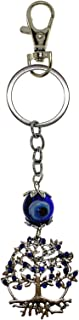 Bravo Team Lucky Tree of Life and Wisdom with Evil Eye Keychain Ring, Handbag Charm for Good Luck and Blessing, with Carabiner Lock. Great Gift
